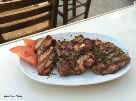 grilled pork steaks